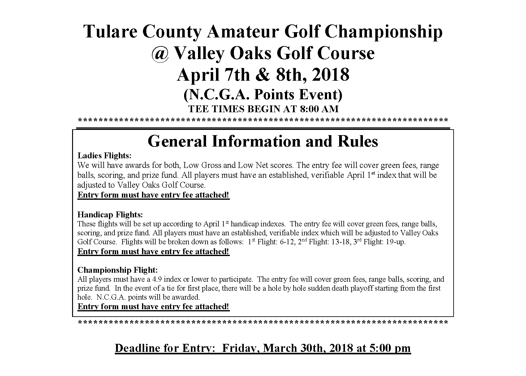 Tulare County Am 2018
